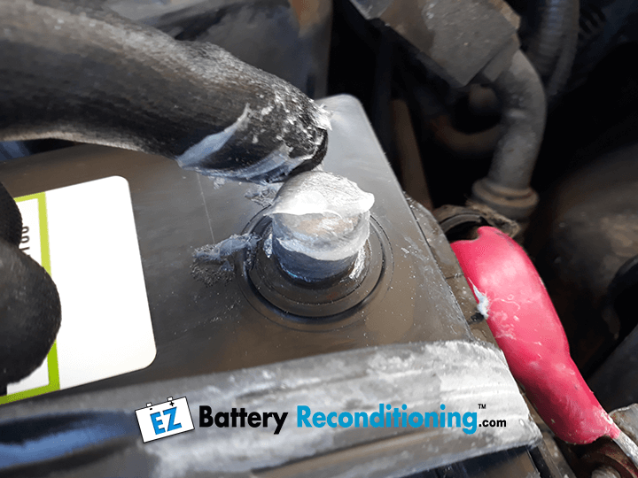 Petroleum Jelly on Battery